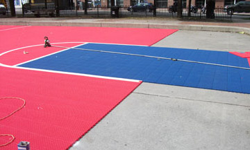 CUSHIONED BASKETBALL COURTS