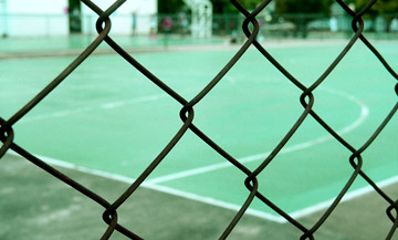 COURT FENCE PAINTING
