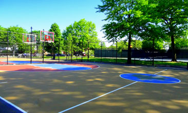 home basketball court installation