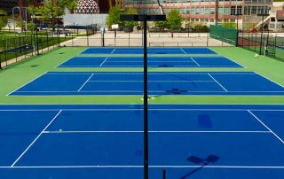 The various types of tennis court systems